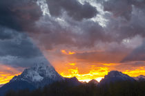 Sunset, Oxbow, Mount Moran, Grand Teton National Park, Wyoming, USA von Danita Delimont