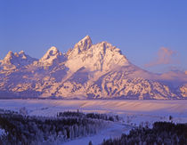 Grand Tetons Snake River Overlook in winter, Grand Teton Nat... by Danita Delimont