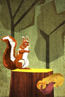 Eichhörnchen im Wald von Sabrina Ziegenhorn