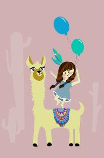 Alpaka luftballon von Sabrina Ziegenhorn
