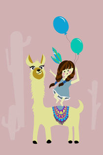 Alpaka luftballon by Sabrina Ziegenhorn