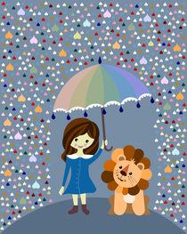 lion in the rain by Sabrina Ziegenhorn