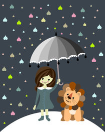 lion in the rain von Sabrina Ziegenhorn