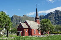 Flakstad Kirche auf den Lofoten by Christoph  Ebeling