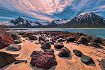 Strand am Austnesfjorden - Lofoten  von Christoph  Ebeling