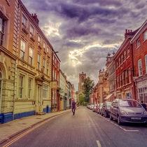 Norwich Street Scene by Vincent J. Newman