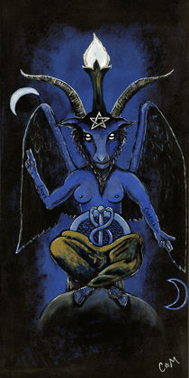 Baphomet Blue by Cathrine Wendt