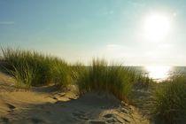 Sonnenuntergang über den Dünen der Nordsee  von Claudia Evans