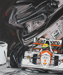 Ayrton Senna McLaren 1 von Minocom Art Gallery