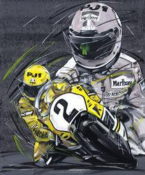 Kenny Roberts Yamaha 2 von Minocom Art Gallery