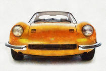Ferrari Dino 246 Pastels von Eti Reid