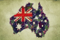 Australian Flag Map Fruits And Vegetables by Eti Reid