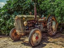 Rustic farm tractor by past-presence-art
