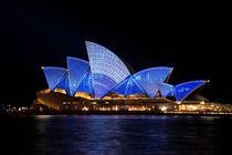 Sydney opera house vivid light show von past-presence-art