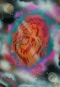 """ Astrology LION "" Spray Art Paint by Beate Brass von Beate Braß"