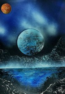 """ Midnight "" Spray Paint Space Painting ART by Beate Brass by Beate Braß"