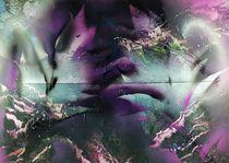 """ Violette Variations "" Spray Paint ART by Beate Brass, Sprühtechnik, by Beate Braß"
