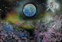 """"""" Blue Planet """" Spray Paint / Space ART by Beate Brass von Beate Braß"""