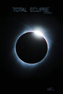 Total Eclipse Wyoming - Blue Ring von Ruth Klapproth
