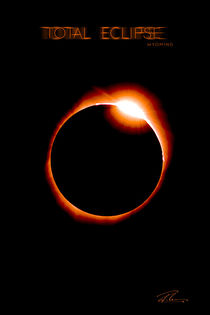 Total Eclipse Wyoming - Red Ring von Ruth Klapproth