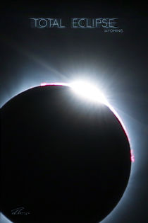 Total Eclipse Wyoming - Blue Ring Particle von Ruth Klapproth
