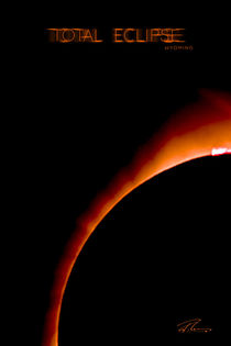 Total Eclipse Wyoming - Red Ring Particle 2 by Ruth Klapproth