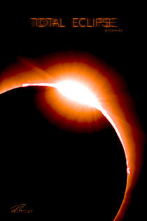 Total Eclipse Wyoming - Red Ring Particle 1 - Poster  by Ruth Klapproth