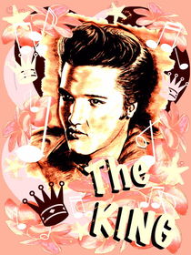 Elvis The King In Salmon-Rosé by gittag74