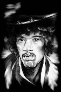 Jimi In Black And White by gittag74