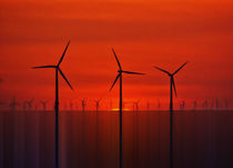 Wind Farms (Digital Art) von John Wain