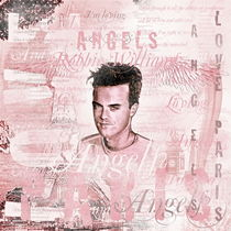Robbie Angels Vintage Design In Pink by gittag74