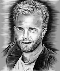 Gary Barlow In Black And White by gittag74
