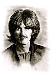 George Harrison In Black And White von gittag74