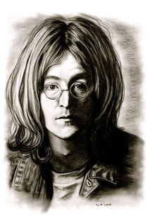 John Lennon In Black And White von gittag74