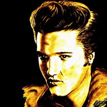 Elvis In Gold And Black by gittag74