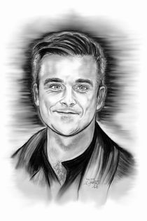 Robbie Williams In Black And White von gittag74