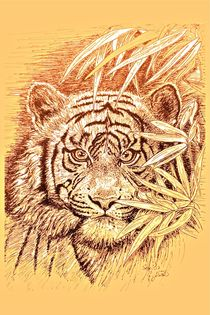 King Of The Jungle in light orange von gittag74