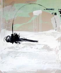 Freiraum 1 - mintgrün weiß abstrakt von Conny Wachsmann