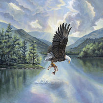 Eagle with Fish von Rebecca Magar