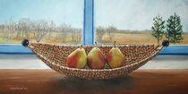 Drei Birnen am Fenster von Lidija Kämpf