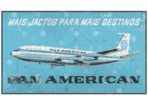 Pan American Airlines - vintage advertising Portugal by Filipe Goulão