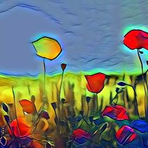 Blumenwiese von Maggie Sachmann