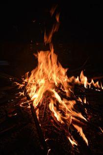 Am Lagerfeuer in der Nacht by Claudia Evans