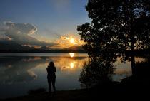 Sonnenuntergang am Hopfensee von Heinz Munk