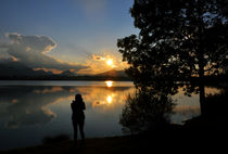 Sonnenuntergang am Hopfensee by Heinz Munk