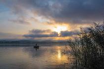 Fischer auf dem Bodensee von Christine Horn