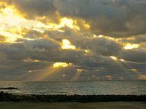 Abendsonne über dem Meer by atelier-kristen