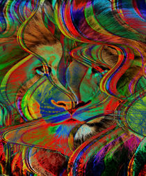 Abstract Lion by Blake Robson