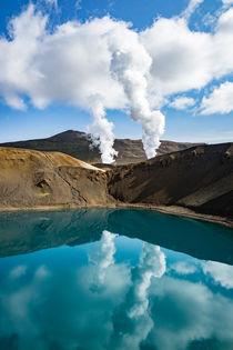 isländischer Vulkankrater von michael-shumway