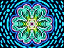 Neon Flower von fraktalini